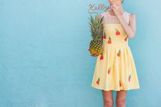 DIY Pineapple Dress Tutorial....i am SO in love with the dress, I wanna go make it right now @Kelly Lanza