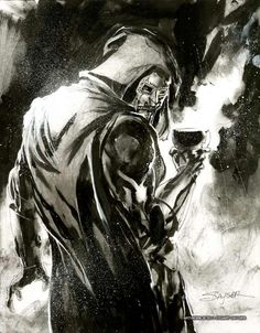 Dr. Doom by Stuart Sayger Comic Art