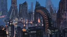 Shanghai, 2112  Future architecture from a concept art gallery.