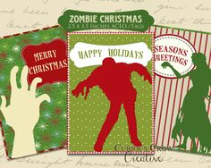 Zombie Christmas Gift Tags Zombie Gifts or Zombie presents for that hard to shop for Undead in your life