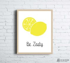 Be Zesty Yellow Lemon Printable Kitchen Wall Art Illustrated Lemon Printable Wall Decor Kitchen Wall Shelves, Wall Shelf Decor, Kitchen Wall Art, Life Kitchen, Kitchen Storage, Lemon Kitchen Decor, Kitchen Decor Themes, Decorating Kitchen, Kitchen Ideas
