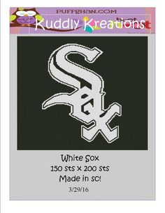 (4) Name: 'Crocheting : White Sox Crochet Graph Graphghan