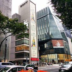 建て替えが発表されているソニービル隣の新しい東急プラザ銀座と並んで撮影できるのはそう長くないかも#sonybuilding #tokyuplaza #ginza #tokyo