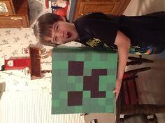 Valentine Minecraft creeper box