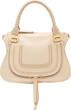 Chloé - Nude Calfskin Marcie Medium Double Carry Bag