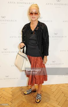 Lucinda Chambers attends the Anya Hindmarch presentation during London Fashion Week SS14 at Central Hall Westminster on September 17, 2013 in London, England.