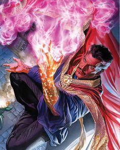 Doctor Strange Poster by Alex Ross Marvel) comic books Marvel Comic Character, Comic Book Characters, Comic Book Heroes, Marvel Characters, Comic Books Art, Fictional Characters, Alex Ross, Marvel Doctor Strange, Marvel Comics Art