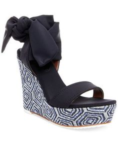 21b696cd88 Donald J Pliner - Nela Wedge Sandal – Seaside Soles Shoe Boutique, Tie Shoes ,