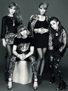 2ne1 : bom, minzy, cl, dara (left - right)