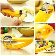 You sure will Go Bananas.. Over this Bite Size Banana Slicer.. Getting your daily quota of Bananas is essential to health and now it is as easy as one two three with Go Bananas, The Bite Size Banana Slicer..