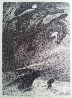 tofer Janson - Middelalderlige Billeder (1901) Illustrations by Louis Moe.