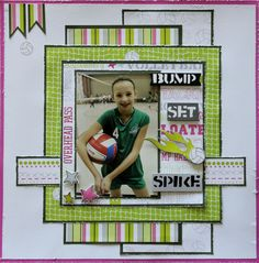 Volleyball Scrapbook Page Ideas | volleyball - Scrapbook.com