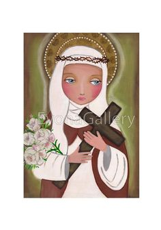 St. Catherine of Siena Print Of Original Art by Evonagallery