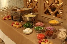 Interactive Stations Mashed Potato Bar Potatoes Wedding Catering Reception Holiday