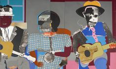Romare Bearden, Soul Three, paper and fabric collage on board, Dallas Museum of Art, General Acquisitions Fund and Roberta Coke Camp Fund Afro, Modern Art, Contemporary Art, Romare Bearden, Dallas Museums, Collage Artists, Collages, Black Artists, Public Art