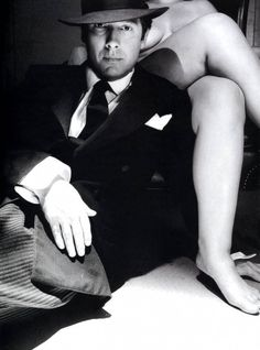 Beautiful photograph of James Spader and a realistic sized model in the back. The subtle nudity makes it sexy but classy