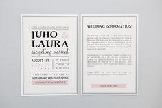 Hääkutsut » Makea Design // Valokuvaus / Graafinen suunnittelu / Juhlasuunnittelu / Sisustussuunnittelu