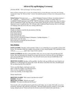 Girl Scout Ceremony Program Template   Document Sample ...