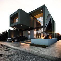 "132 Me gusta, 6 comentarios - Dream Houses | Denmark (@rasdreamhouses) en Instagram: ""VIlla H5 pure luxury!! #luxury #luxuryhomes #architecture #design #exterior #exteriordesign…"""