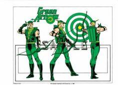Jose Luis Garcia Lopez Art Green Arrow Model Sheet Giordano Inks DC