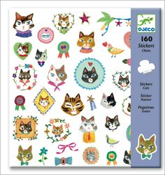 Lovely Cats stickers by #Djeco from www.kidsdinge.com