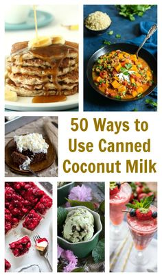 Got a few cans of coconut milk hanging out in the cupboard? From breakfast to dessert, you can find a recipe to use it up in this collection of 50 ways to use canned coconut milk! Recipes Using Coconut Milk, Coconut Milk Uses, Coconut Milk Benefits, Shrimp Coconut Milk, Coconut Oil, Perfect Food, Recipe Using, Cooking Recipes, Cooking Games