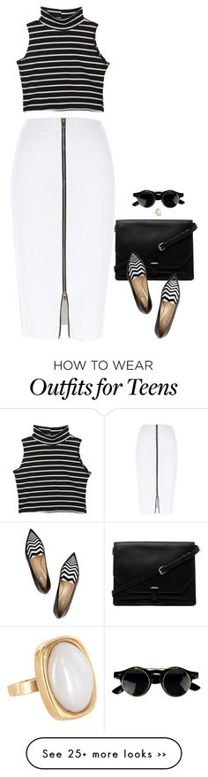 """""""Venice"""" by miki006 on Polyvore featuring River Island, 3.1 Phillip Lim, Nicholas Kirkwood and Vintage Modern Fashion, Trendy Fashion, Fashion Looks, Vintage Fashion, Fashion Outfits, Womens Fashion, Style Work, My Style, Classy Outfits"""