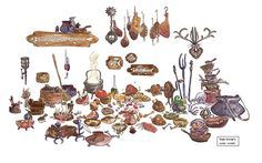 disney concepts & stuff - Prop Designs from Tangled by Scott Watanabe