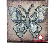 Μεταλλικό κάδρο τετράγωνο πεταλούδες