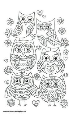 Cute owls you can draw at home! You can use them for temples for embroidery or just practice drawing! Cute DOODLING draw drawing embroidery happy Home owls practice temple Temples Owl Doodle, Doodle Art, Owl Coloring Pages, Coloring Books, Coloring Sheets, Embroidery Patterns, Hand Embroidery, Owl Patterns, Mundo Hippie