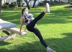5 Toning Workout Moves You Can Do While Wearing Baby