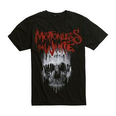 Motionless In White Drip Skull T-Shirt Hot Topic ($17) ❤ liked on Polyvore featuring tops, t-shirts, white t shirt, white tops, skull top, white cotton t shirts and skull t shirt