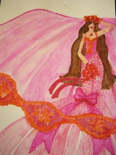 ~PAPER DOLL EVE: A GIRL DREAMS~: Pink Bride Watercolor