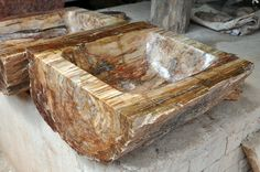petrified wood sink...amazing!
