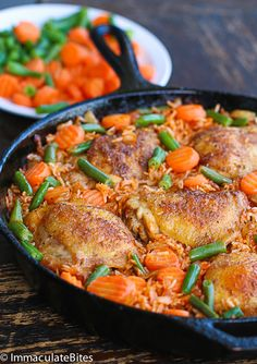 Jollof Rice & Chicken _ The rice is incredibly flavorful; the juicy of the chicken enhances the rice dish, making it really quite tasty! An easy yet tasty one pot meal that is enjoyed in West African Countries (Nigeria, Cameroon, Ghana, Liberia & Sierra Leone) - Immaculate Bites