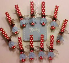 Decorative Clothes Pins for Baby Shower Games by Pinsafari on Etsy, $7.78