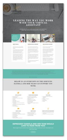Elegant and chic Website Landing Page to showcase Adminallrounder's business delivery