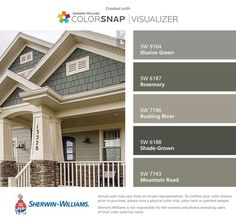 Attirant I Found These Colors With ColorSnap® Visualizer For IPhone By  Sherwin Williams: Gray Exterior HousesExterior ...