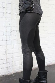 Black Vegan Leather Leggings. $89.