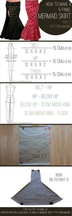 How to Make a Mermaid Skirt Part Pattern Making Diy Clothing, Sewing Clothes, Sewing Coat, Skirt Sewing, Barbie Clothes, Mermaid Dress Pattern, Dress Patterns, Sewing Patterns, Pattern Skirt