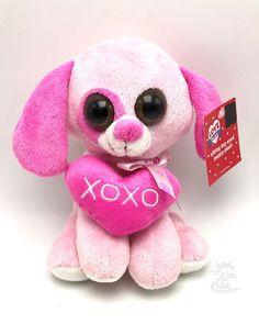 Pink Puppy Plush Stuffed XOXO Valentine 7 Inch #Unbranded #ValentineDay
