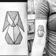 Geometric Rabbit Tattoo Design