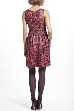 Sequined Jacquard Dress - Back Anthropologie.com