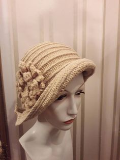 1fcbc608328 Items similar to Crochet cloche hat for winter on Etsy