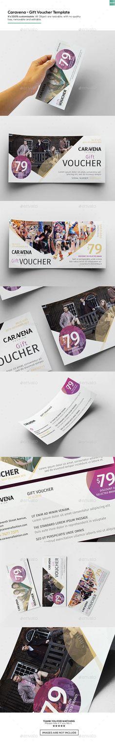 Caravena   Gift Voucher Template PSD. Download here: https://graphicriver.net/item/caravena-gift-voucher-template/17458879?ref=ksioks