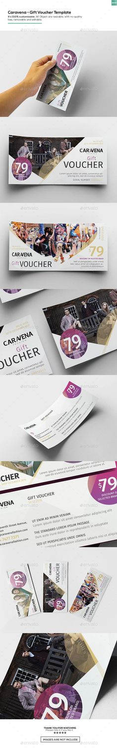 Caravena | Gift Voucher Template PSD. Download here: https://graphicriver.net/item/caravena-gift-voucher-template/17458879?ref=ksioks
