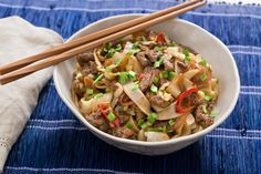 Cumin-Sichuan Beef & Noodles with Pepper, Cabbage & Garlic Chives. Visit https://www.blueapron.com/ to receive the ingredients.