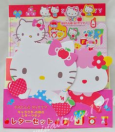 NEW ~ 100% JAPAN~Sanrio Hello Kitty Stationery Letter Set with sticker #D827