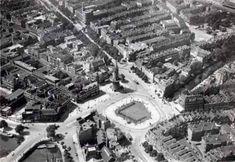 Luchtfoto van het oostplein met molen de noord 1934