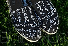 Custom, hand painted TOMS: Calculus and Mathematics on Etsy, $100.00